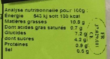 Les petites salades - Carottes râpées - Informations nutritionnelles - fr