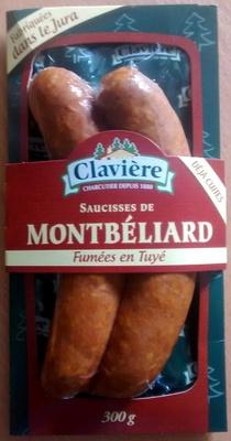 Claviere, Saucisse de Montbeliard fumees en Tuye, le paquet de 2 - Product