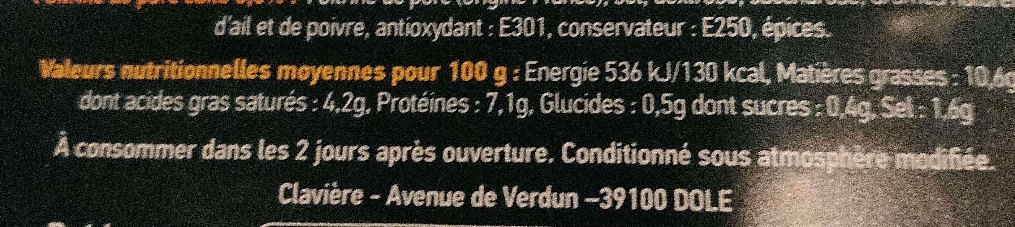 Choucroute cuite garnie - Ingrédients - fr
