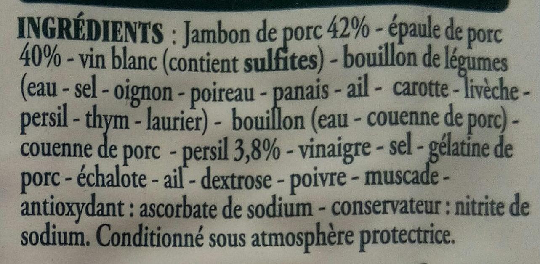 Véritable jambon persillé de Bourgogne - Ingredients