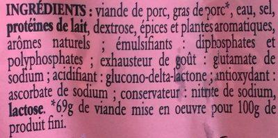 Véritables Knacks du Jura - Ingrediënten