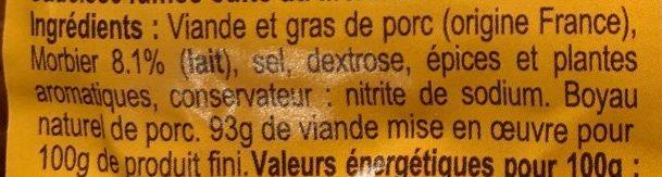 Diots du Jura au Morbier - Ingrediënten