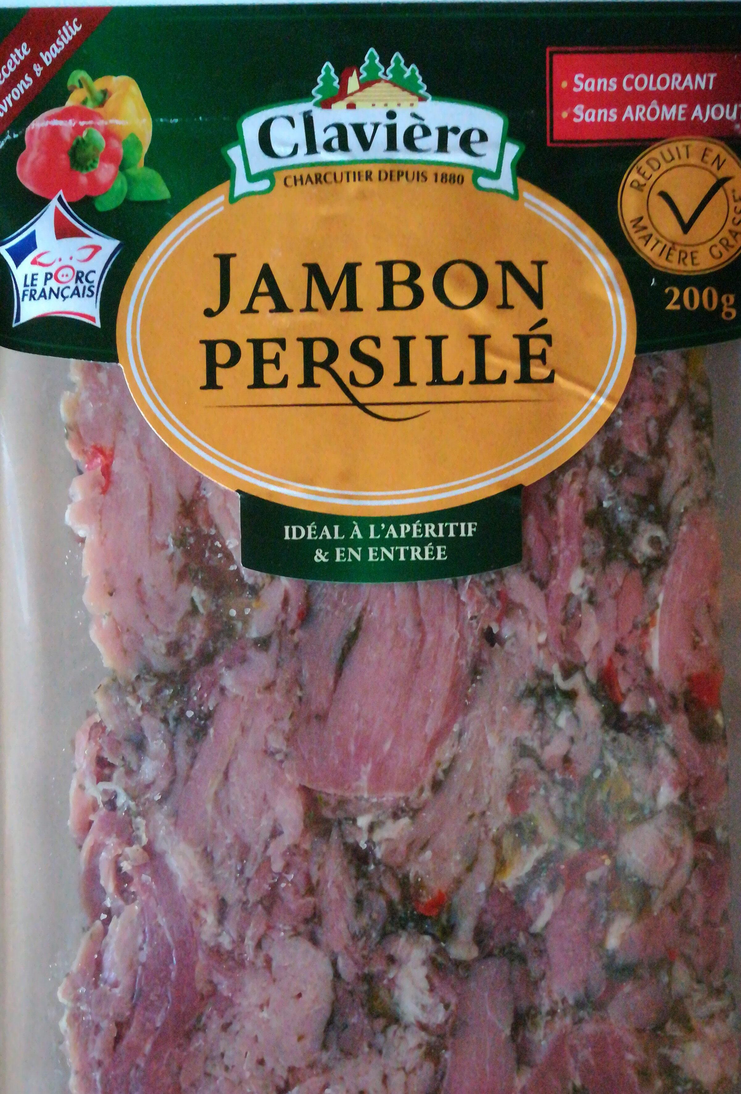Véritable jambon persillé de Bourgogne aux 2 poivrons et basilic CLAVIERE - Product - fr