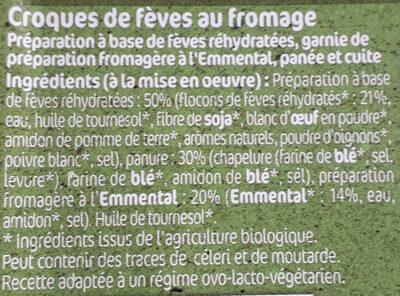 CROQUES DE FÈVES - Ingredients - fr