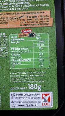 CROQUES DE FÈVES - Nutrition facts