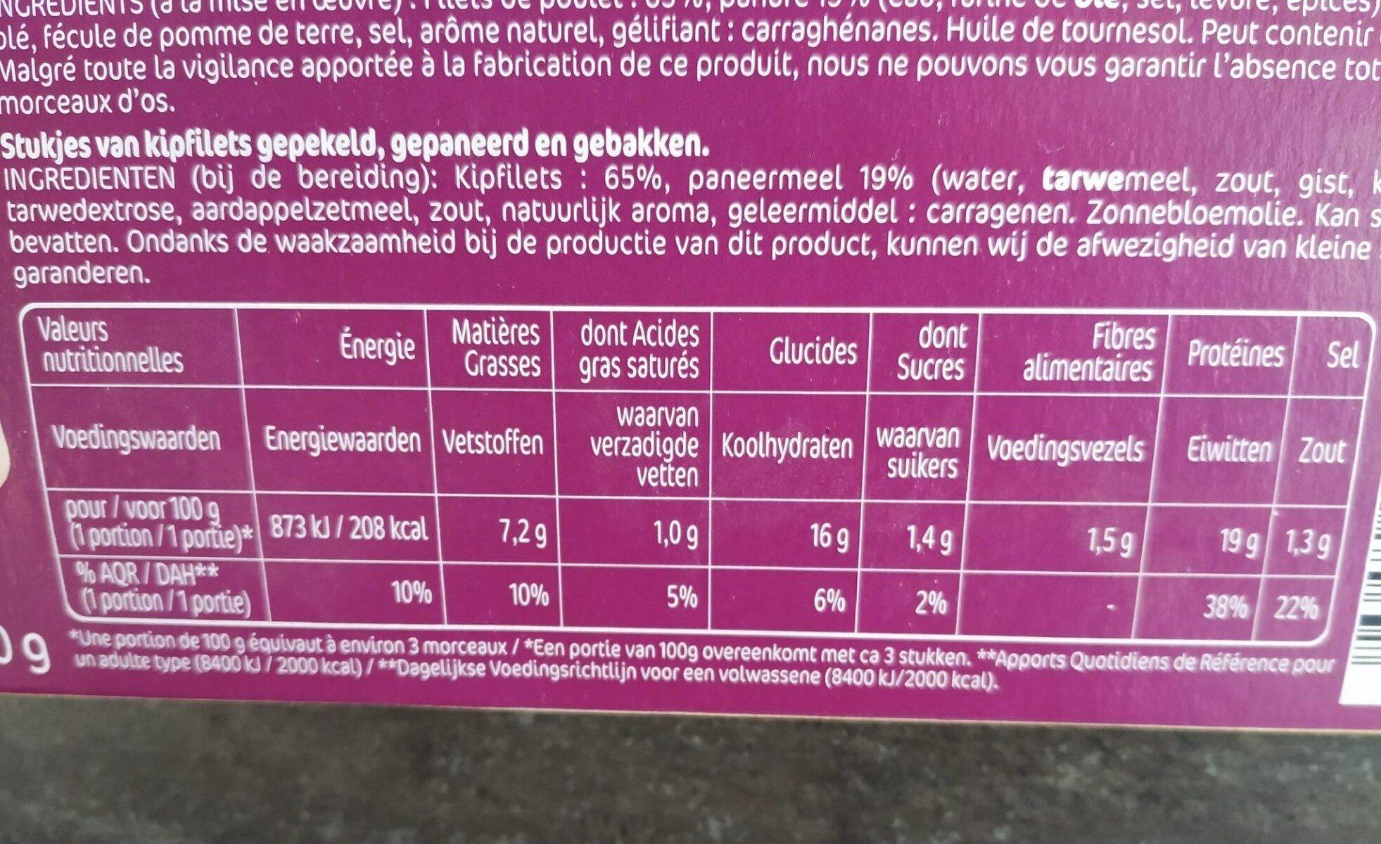 Crousty chicken - Nutrition facts - en