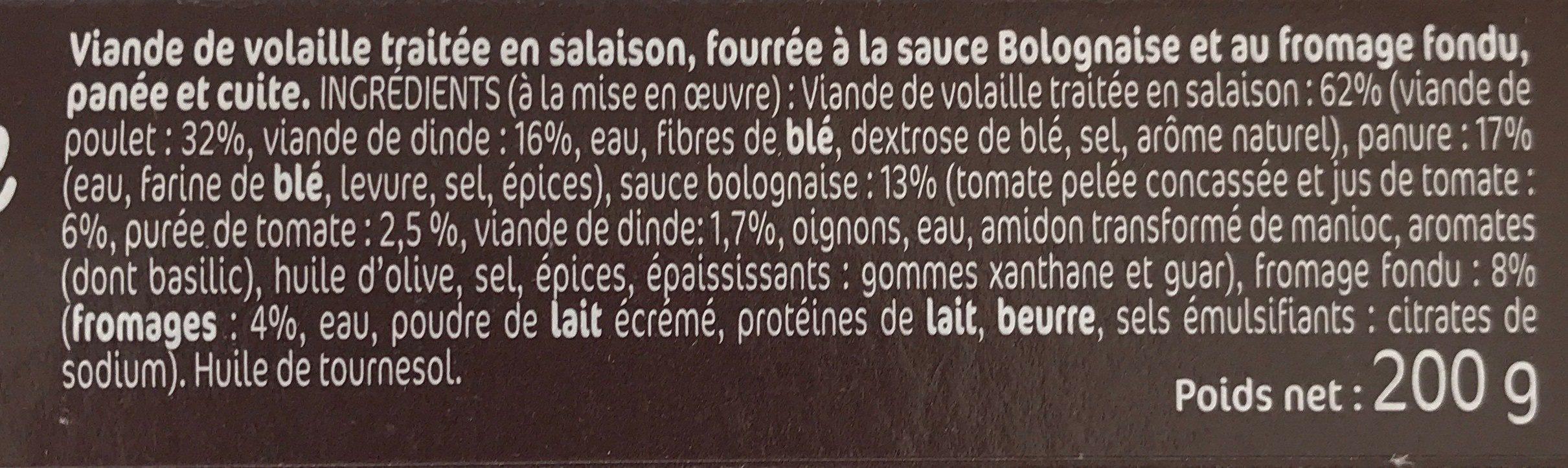 Croq' Façon Bolognaise Tomate Oignons - Ingrediënten