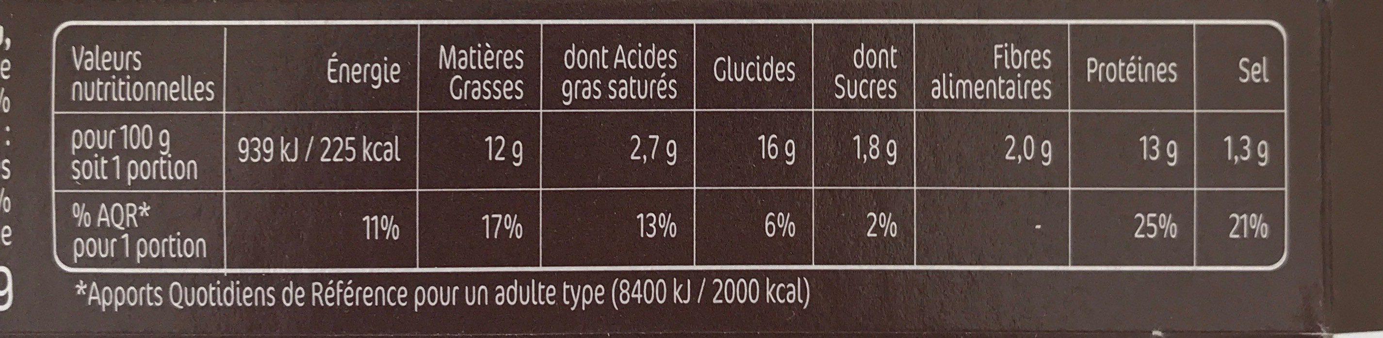 Croq' Façon Bolognaise Tomate Oignons - Voedingswaarden