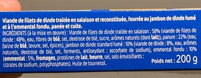 L'escalope Cordon Bleu - Ingredients