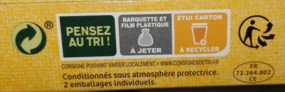 L'escalope Cordon Bleu - Istruzioni per il riciclaggio e/o informazioni sull'imballaggio - fr