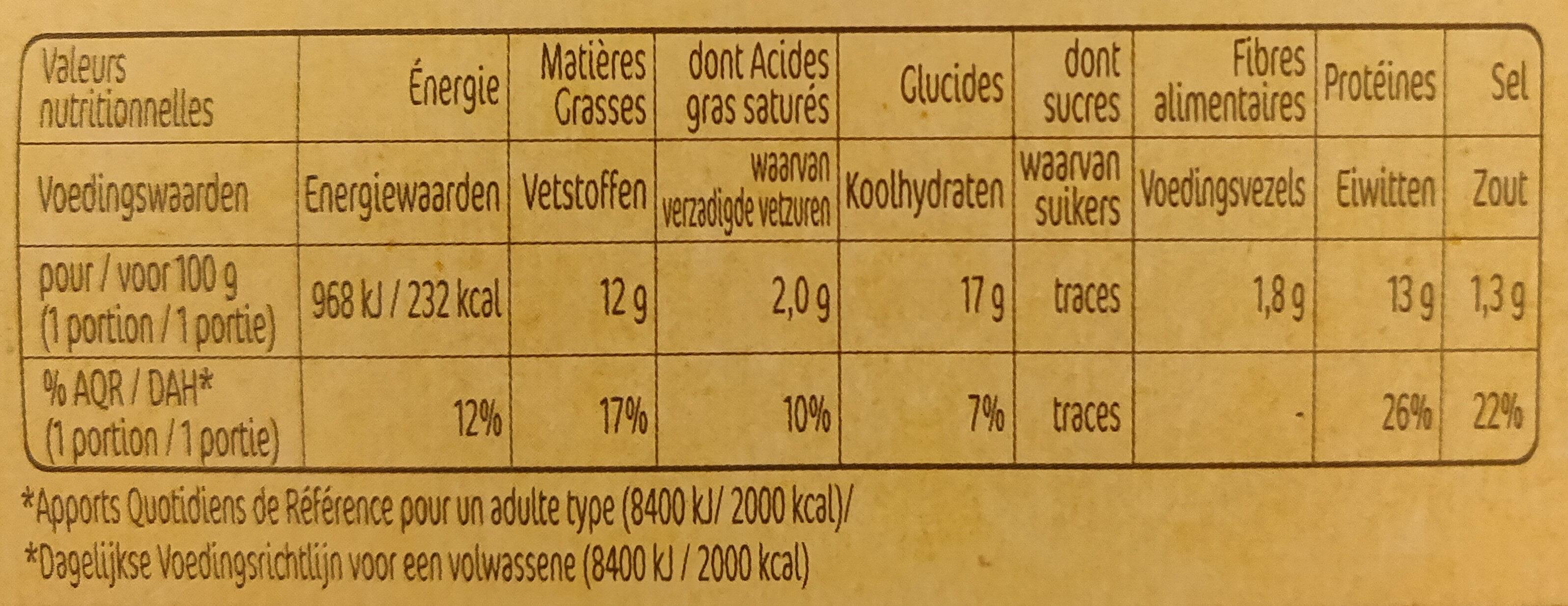 Nuggets Extra Croustillant x10 - Informations nutritionnelles - fr