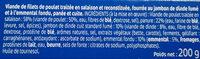 L'escalope Cordon Bleu de Poulet x2 - Ingrédients