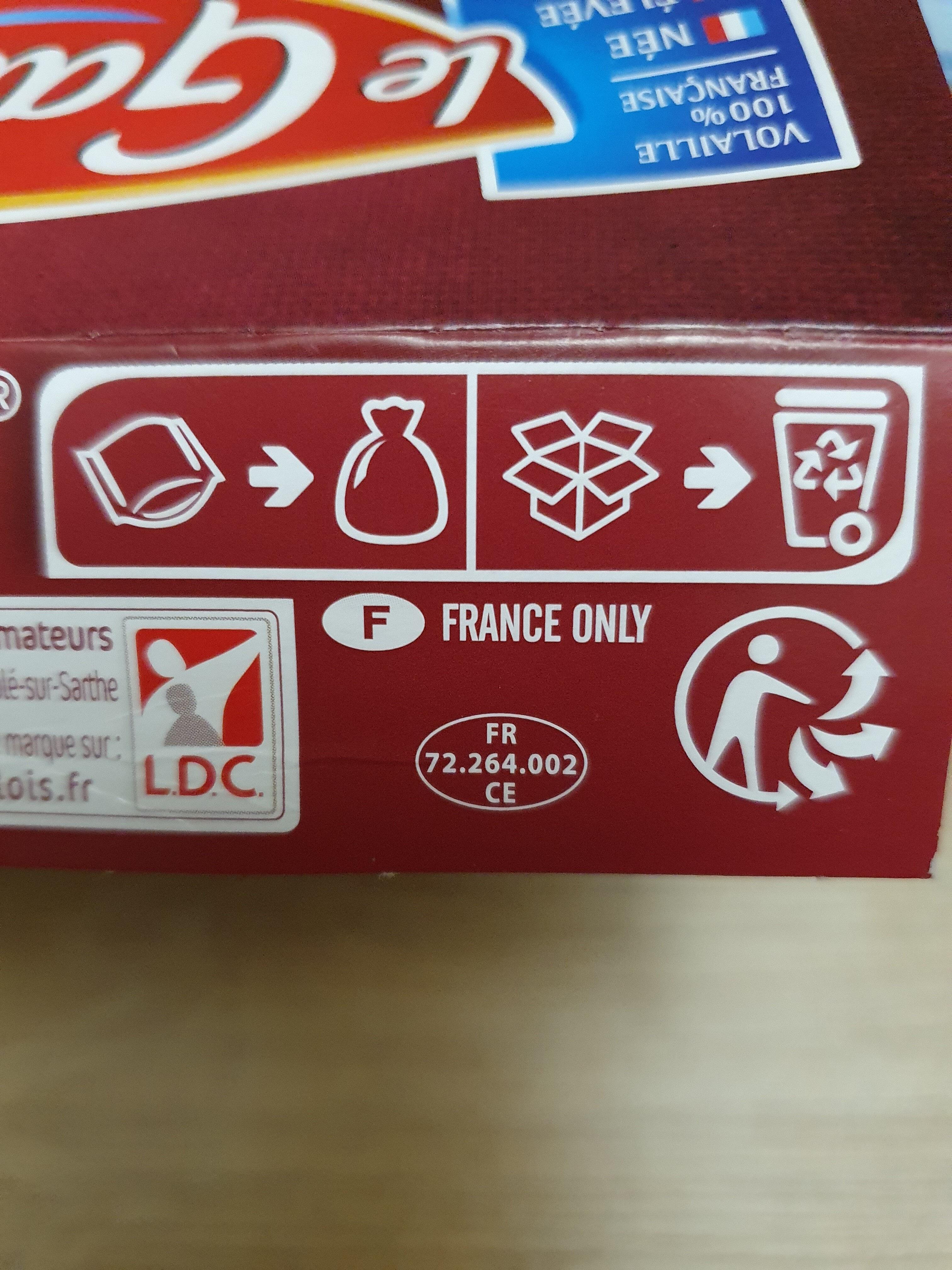 Gésiers de volaille confits - Instruction de recyclage et/ou informations d'emballage - fr