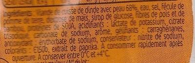 Rôti de dinde cuit 800g - Ingrédients - fr