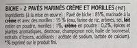 2 Pavés de Biche Marinés Crème et Morilles - Ingrédients - fr