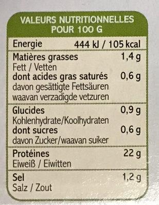 2 Pavés de Biche Marinés Crème et Morilles - Informations nutritionnelles - fr