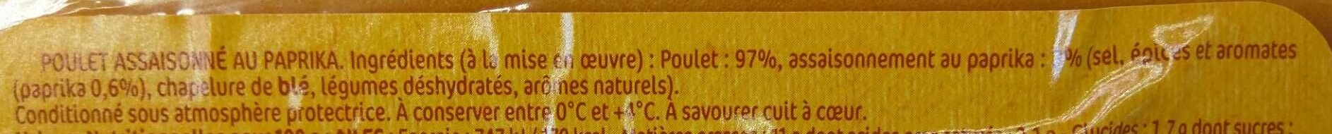 Poulet au Paprika - Ingredients