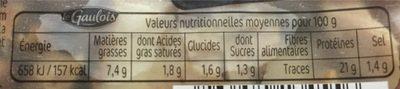 Émincés de cuisse de poulet rôti extra tendre - Informations nutritionnelles