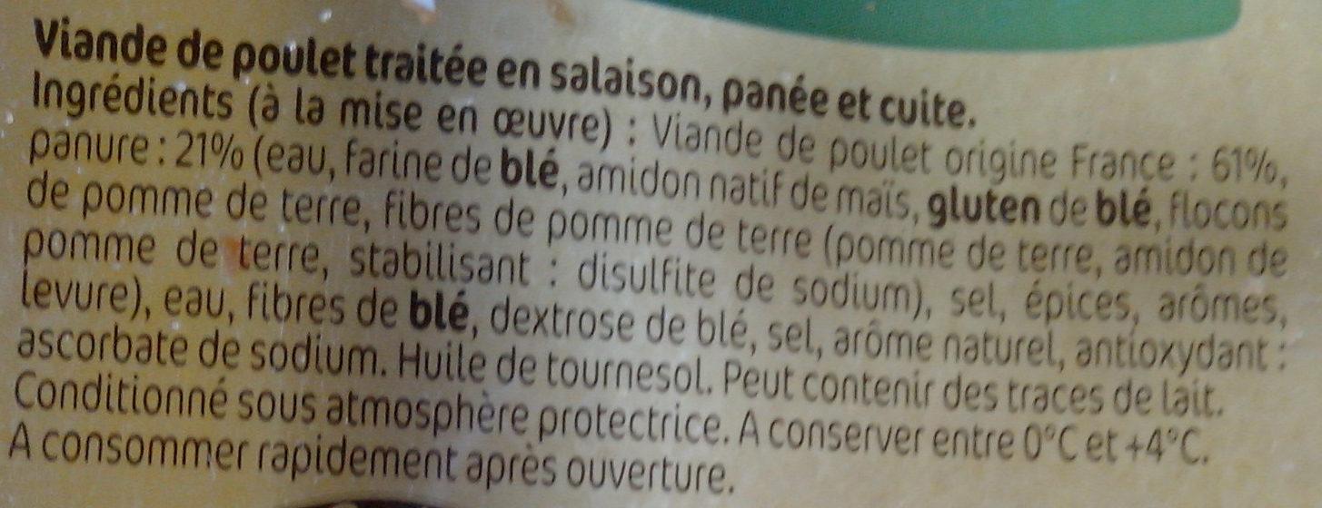 Frites de poulet panées - Ingrédients - fr