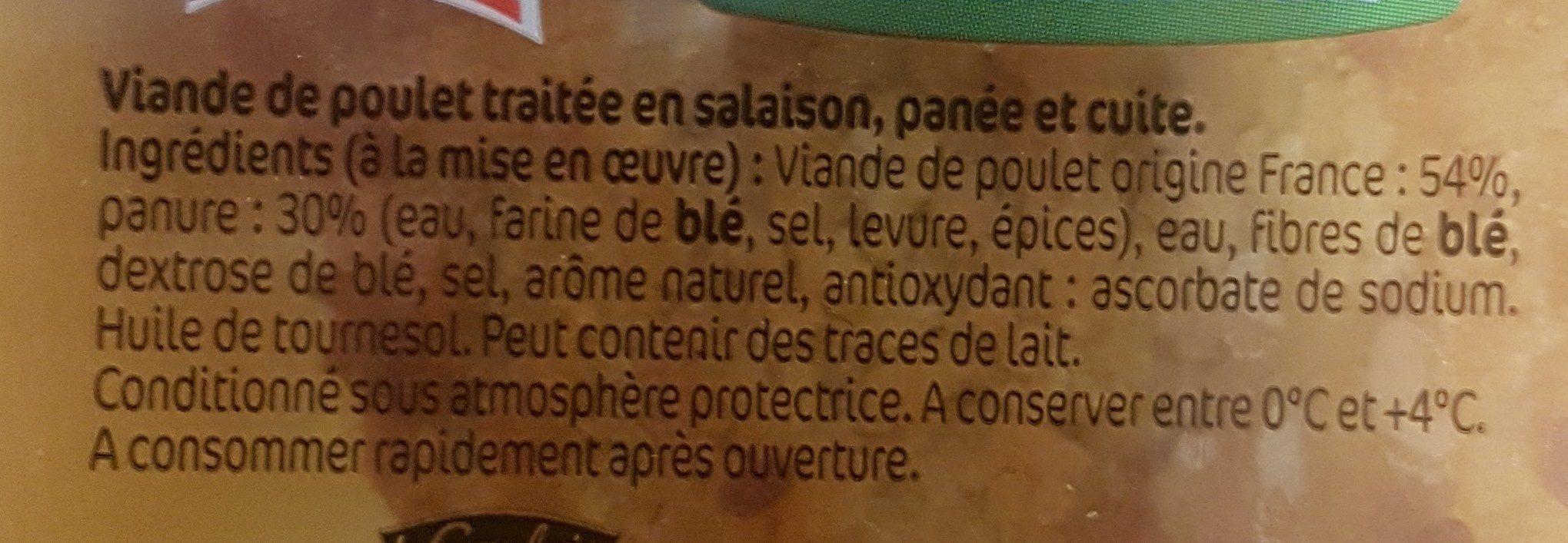Panés de poulet x2 - Ingrediënten - fr
