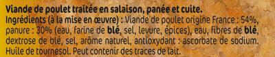 Panés de poulet x2 - Inhaltsstoffe - fr