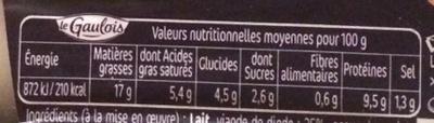 Boudins Blancs aux Morilles x 3 - Voedigswaarden