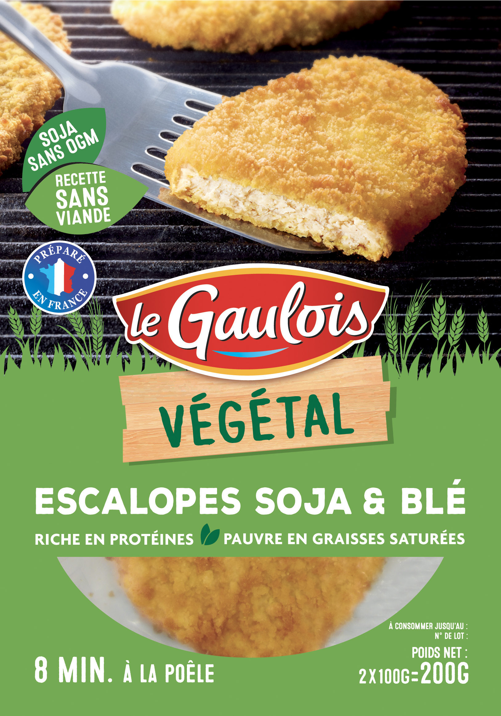 Escalopes Soja & Blé - Product - fr