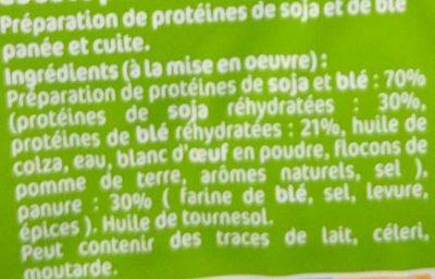 Escalopes Soja & Blé - Ingredients - fr