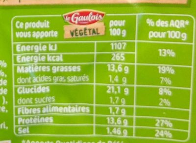 Escalopes Soja & Blé - Nutrition facts - fr