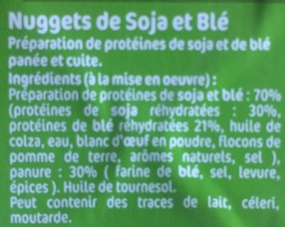 Nuggets Soja & Blé - Ingredients - fr
