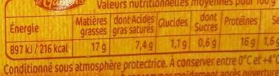 Saucisses de volaille x6 - Informations nutritionnelles - fr