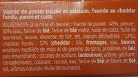 London Nuggets cheddar et Oignons Croustillants - Ingredients