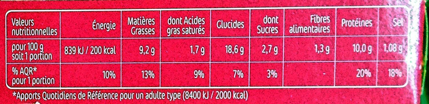 beignets asiatique x2 - Nutrition facts - fr