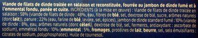 L'escalope cordon bleu de dinde x4 - Ingrediënten - fr