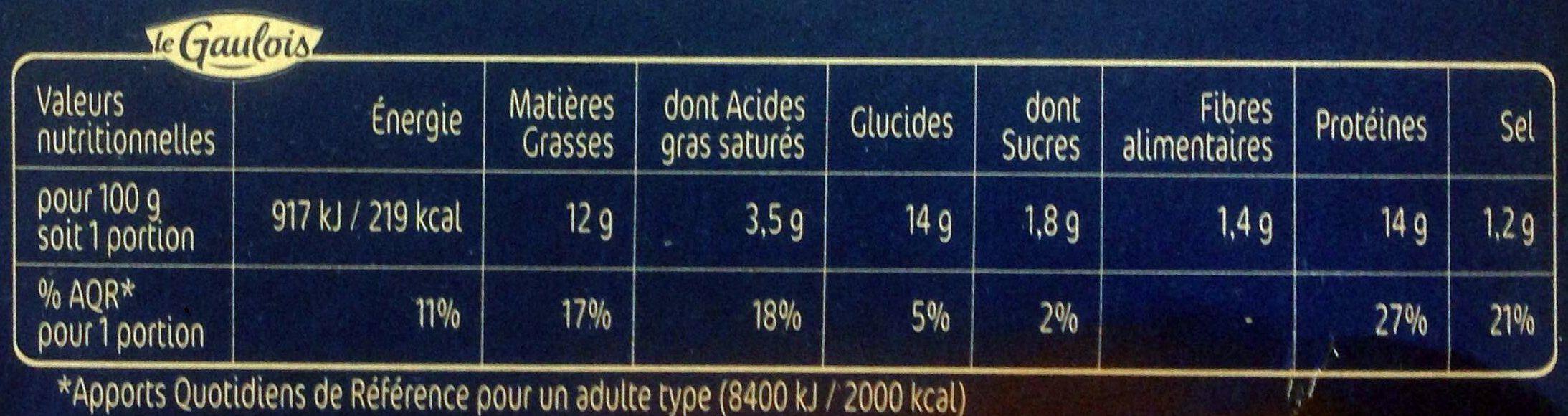 L'escalope cordon bleu de dinde x4 - Voedingswaarden - fr
