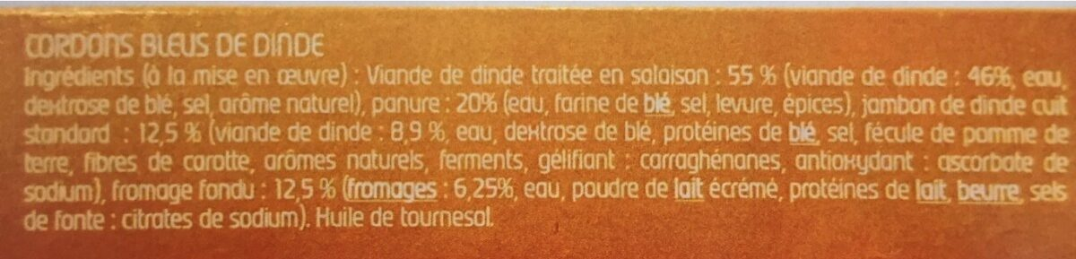 Cordon Bleu Mickey - Ingredients