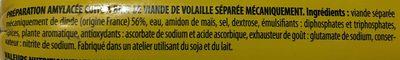 Saucirégal Volaille Nature - Ingrédients