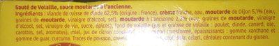 sauté volaille sauce moutarde à l'ancienne s/étui - Ingrédients - fr