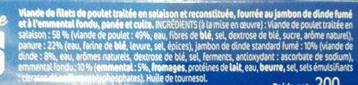 Le Gaulois Cordon Bleu - Ingredients