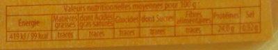 L'extra Tendre, l'Escalope de dinde - Informations nutritionnelles