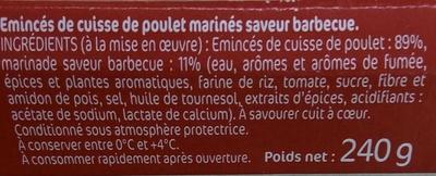Émincés de Poulet marinés Barbecue - Ingrédients - fr