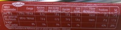 Émincés de Poulet marinés Barbecue - Informations nutritionnelles - fr