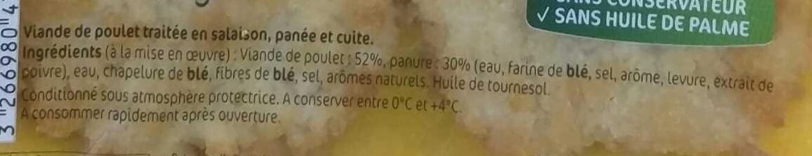Les Panés du Volailler, Nuggets de Poulet - Ingrédients - fr