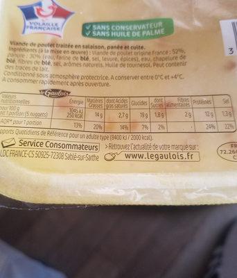Les Panés du Volailler, Nuggets de Poulet - Informations nutritionnelles