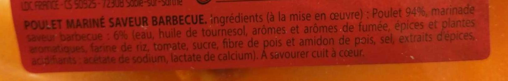 Poulet saveur Barbecue - Ingrédients - fr