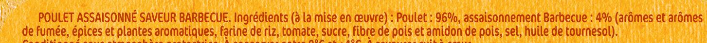 Poulet saveur Barbecue - Inhaltsstoffe - fr