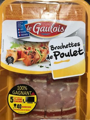 brochettes de poulet x 4 s/at - Produit - fr