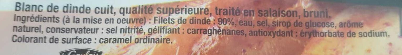Filet de Dinde (4 tranches) - Ingredients - fr