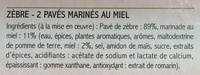 2 Pavés de Zèbre marinés au Miel - Ingrédients