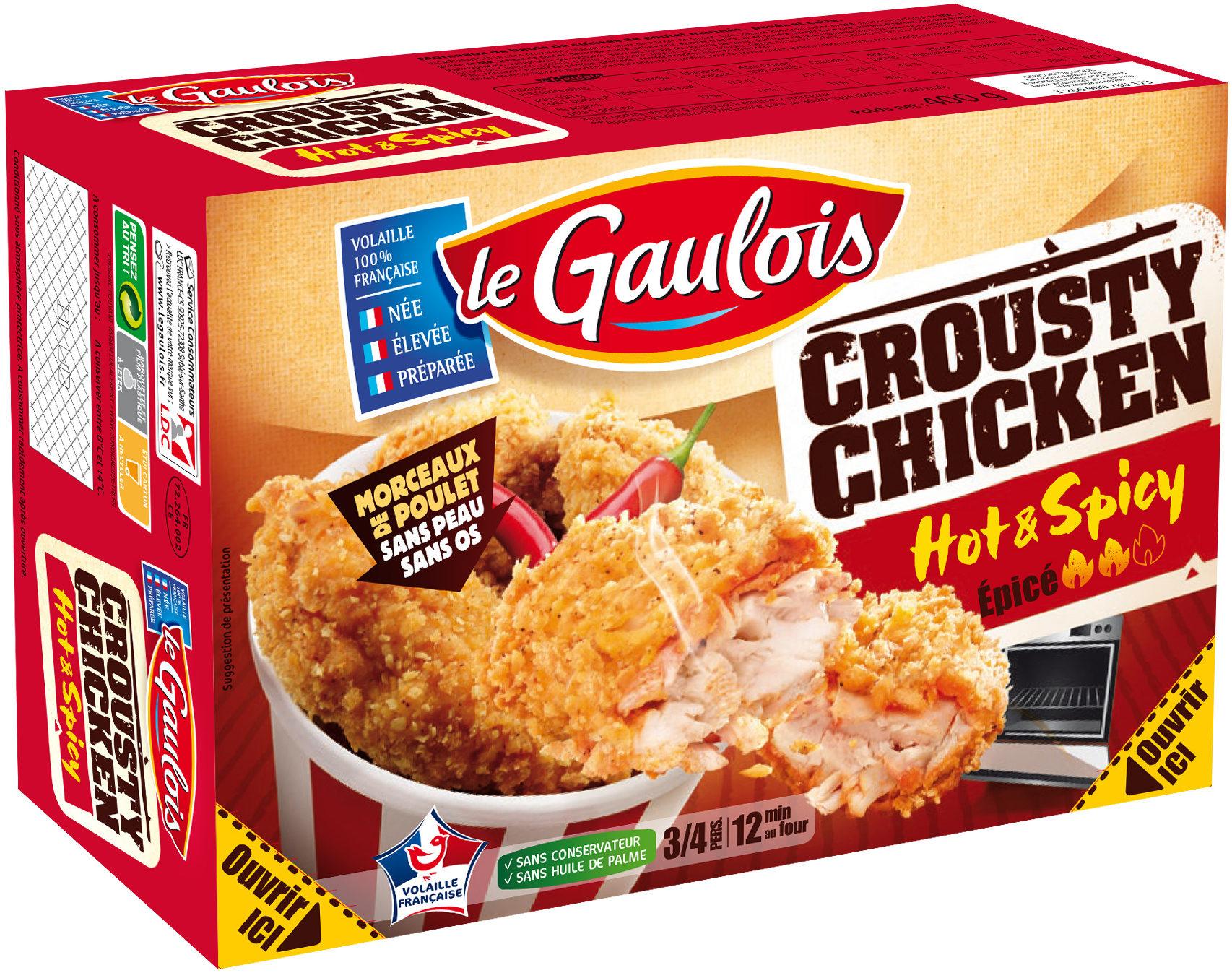crousty chicken hot & spicy - Produit - fr